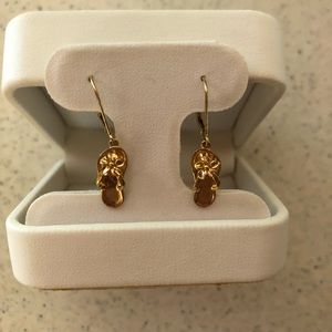 Gold plated; Flip Flop Earrings